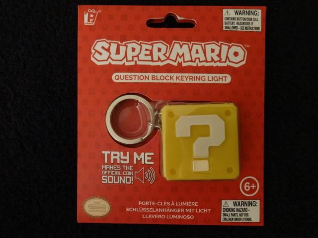 Super Mario Question Block Keychain With Light And Sound This Or