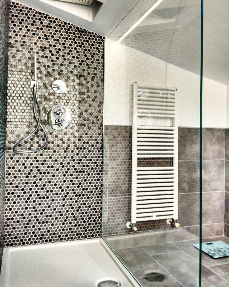 #doccia aperta con #PiattoDoccia #CeramicaGlobo modello Doccia Bella, rubinetteria #Paffoni ...