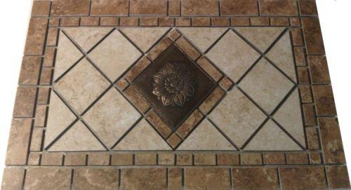 18x30 charro questesh porcelain mosaic medallion tile backsplash deco