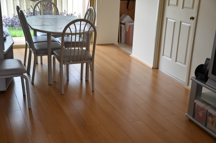 Fast Lock Laminate in The Red Oak colour.