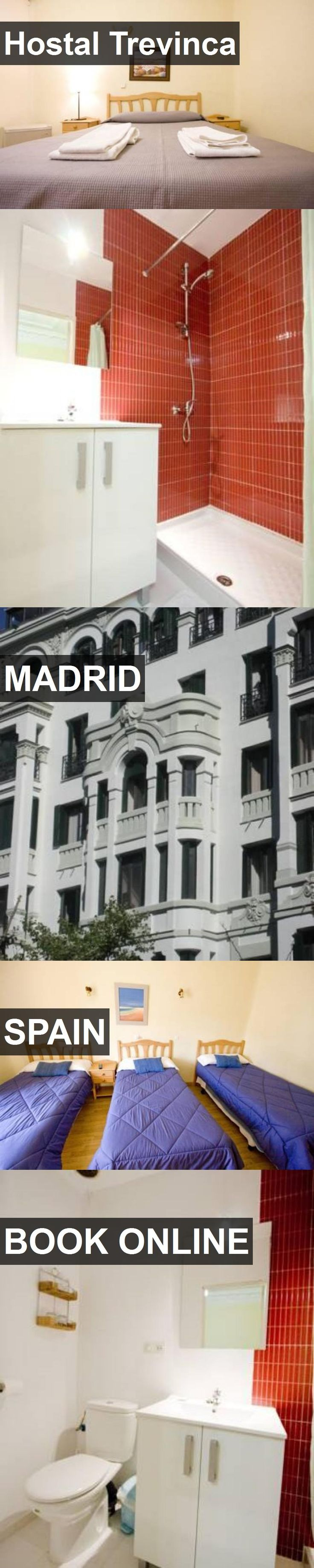 Hotel Hostal Trevinca in Madrid, Spain. For more information, photos, reviews and best prices please follow the link. #Spain #Madrid #travel #vacation #hotel