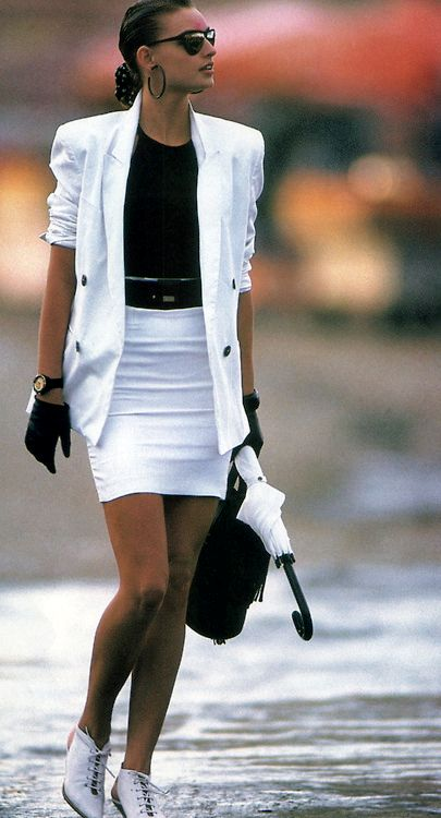 Gilles Bensimon for Elle magazine, April 1988.