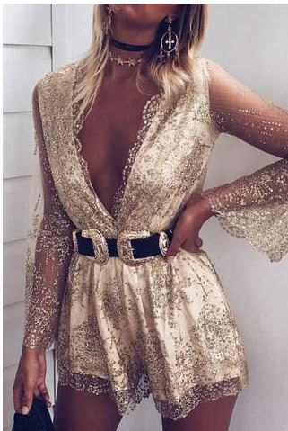 Gold playsuit