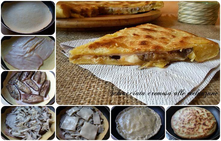 Schiacciata cremosa alle melanzane Oggi una ricetta veloce e semplice da realizzare:schiacciata cremosa alle melanzane. Pratica per la su
