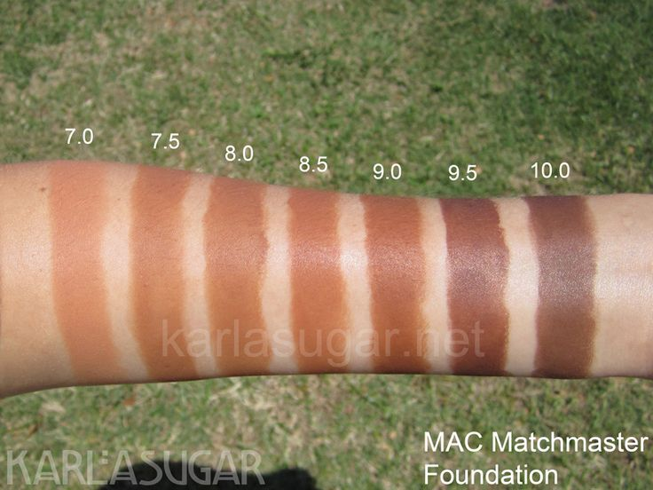 Nc45 Skin Color Mac Matchmaster Foundation Swatches