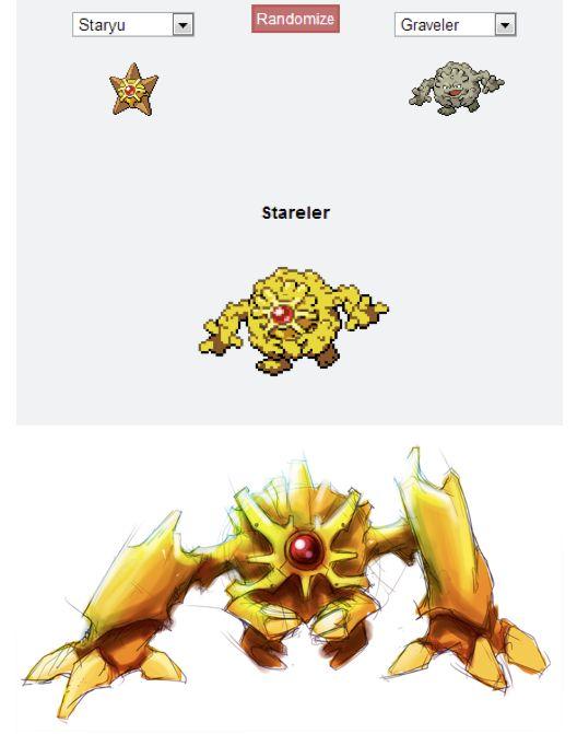 stareler pokémon fusion