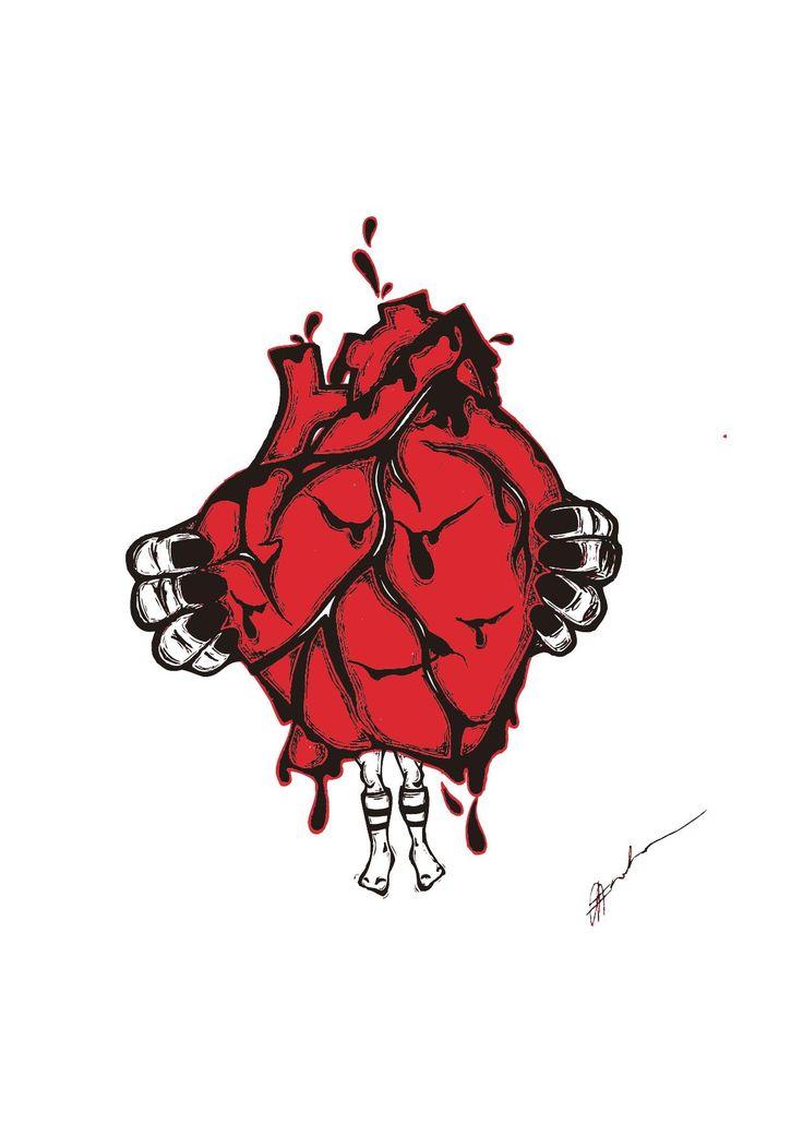 'Bleeding Hearts' Illustration By Rachel J. Enoka