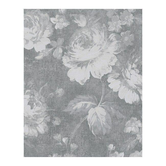 Tapeta Winylowa Na Flizelinie Floral Grafitowa 336041 Tapety