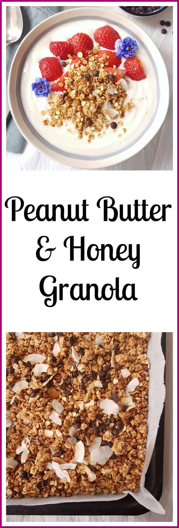 Peanut Butter and Honey Granola. - #butter #granola #honey #peanut - #new - #but