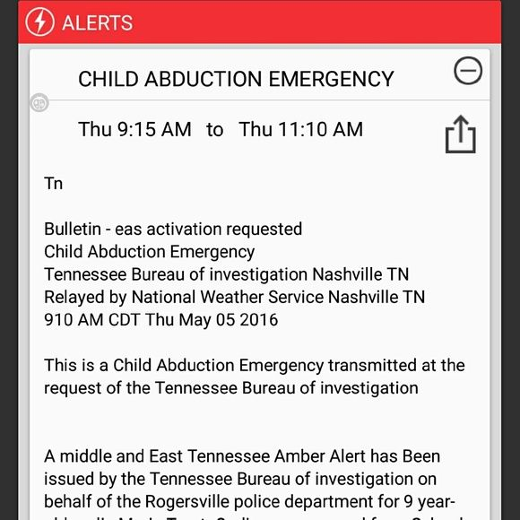 CHILD ABDUCTION ALERT PLS SHARE Ladies please SHARE this especially my TN poshers. This is our area! This little girl was abducted yesterday from school by her uncle. If you see him or his vehicle CALL the TBI immediately!! Other