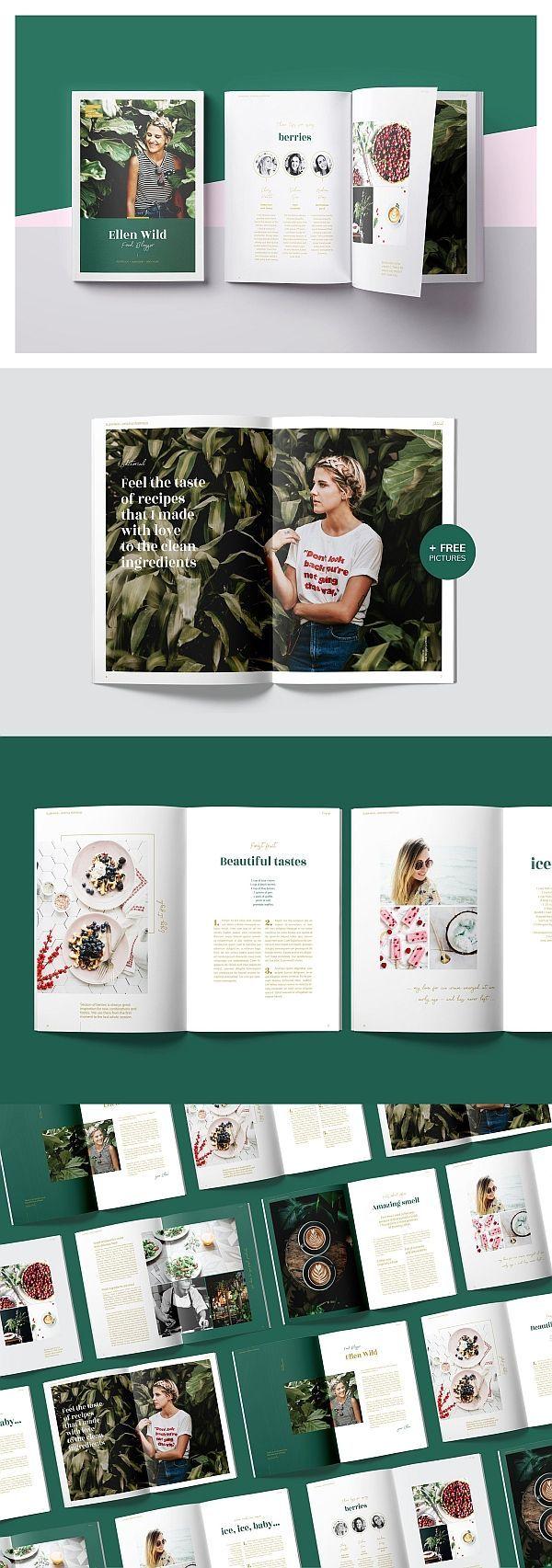 Vorlage für Ellen Wild Magazine / Lookbook #magazine #lookbook #portfolio #bros…