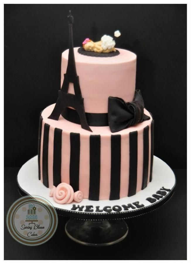 paris themed baby shower cake spring bloom cakes pinterest