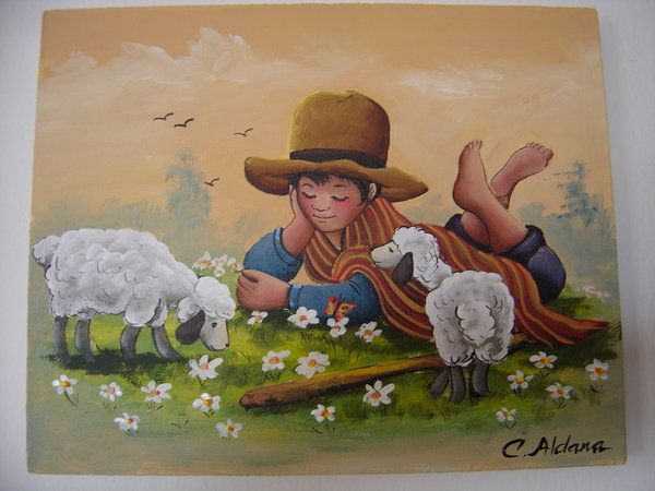 Cuadros artesanales peruanos