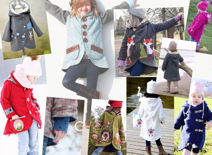 18 best Kindermantel images on Pinterest | Nähen für kinder, Jacken ...