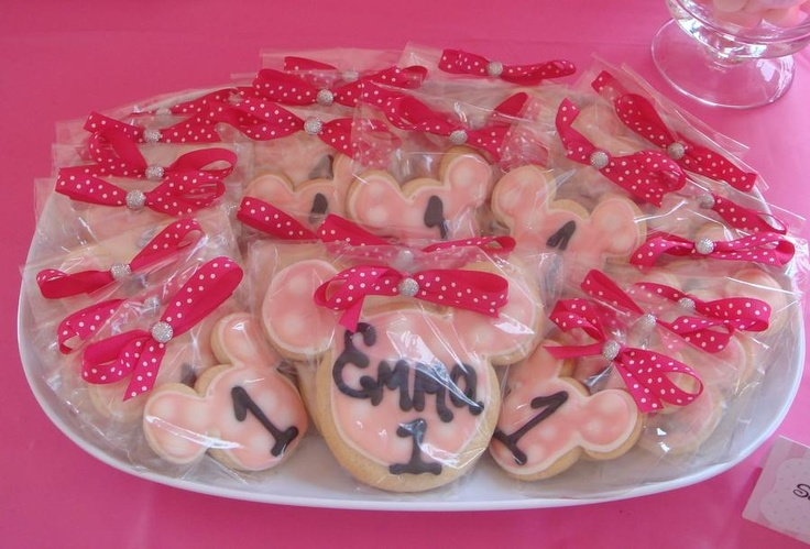"""""""Minnie Mouse Personalized Sugar Cookies..."""""""