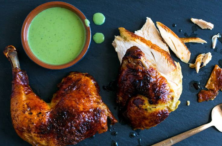 NYT Cooking: Green Goddess Roasted Chicken