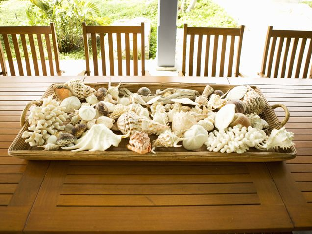Simple Shell Centerpiece.