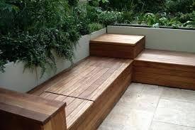 Image result for modern outdoor storage bench