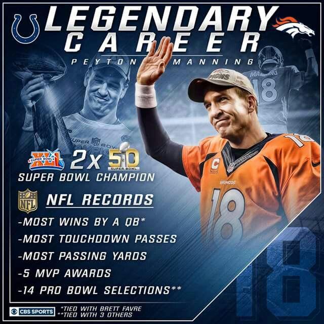 Peyton Manning Legendary Career Stats