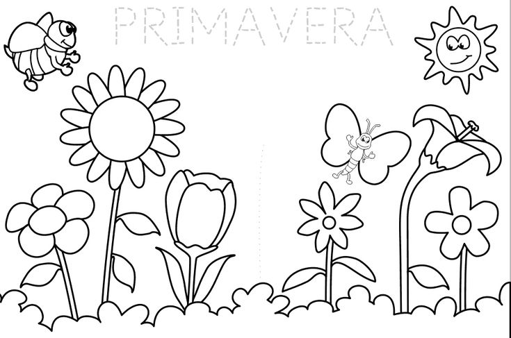 La Primavera | Dibujos | Summer coloring pages, Spring coloring
