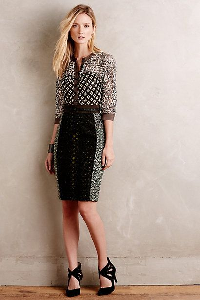Melodist Pencil Dress #anthropologie  Byron Lars!  Obsessed with his fit!