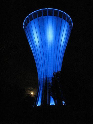 Vandtårnet i Kolding...Kolding water tower at night, Denmark