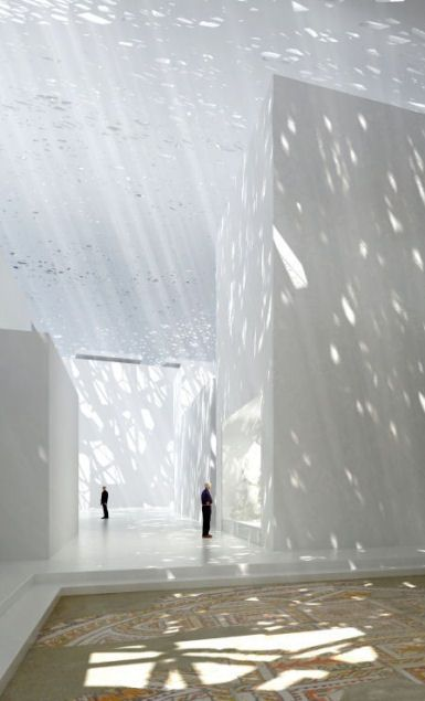 Would love my whole house to be bathed in this type of lighting!! - Jean Nouvel's Louvre Abu Dhab