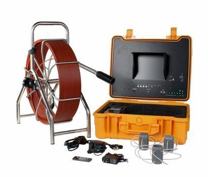 """190 ft Sewer Pipe Wall Snake Video Camera DVR w/ Meter Counter & Transmitter by Steel Dragon Tools. $3099.99. Specifications:Detachable Camera Head512 Hz Transmitter built inside camera headMeter Counter10"""" TFT Color Monitor in an ABS Waterproof Case with a built-in DVR Recorder 1.6"""" Sharp CCD Waterproof Color and Self-leveling Camera with18 LED Head LightsCamera head is made of strong acetal polyoxymethylene (POM) plastic, POM plastic was designed to withstand high stress..."""