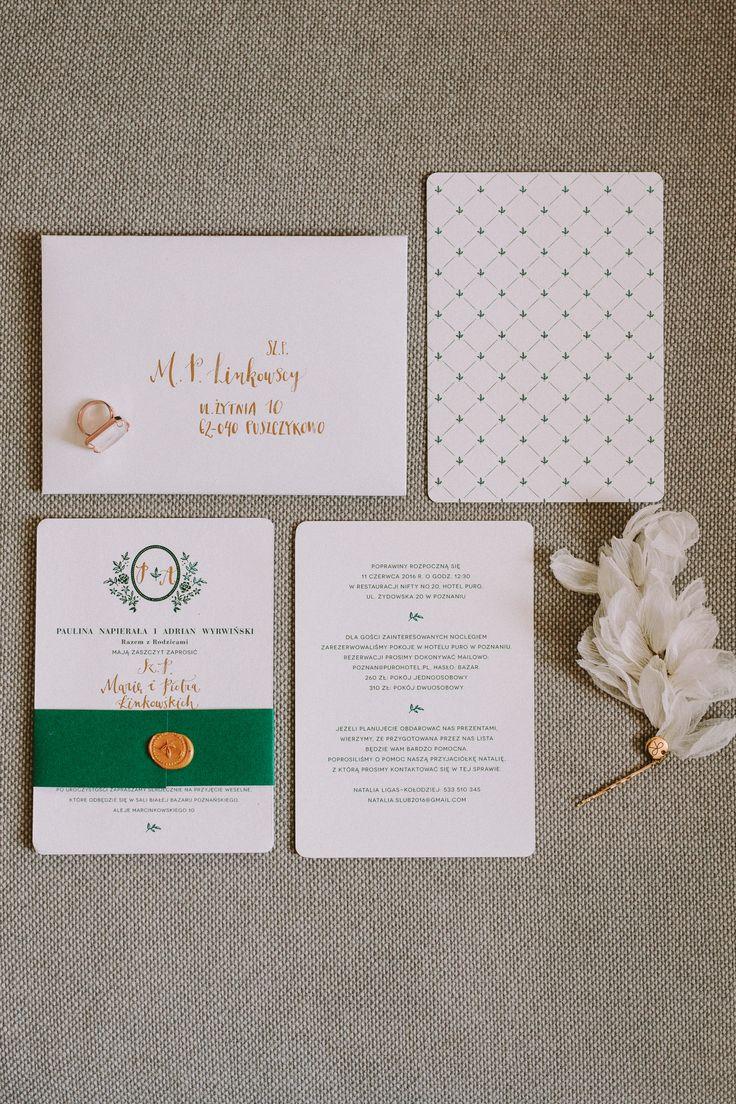wedding calligraphy by HELLO calligraphy .Małgosia Małecka. // invitation set KWIATY I MIUT // photo Bajkowe Śluby