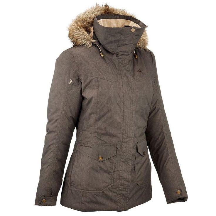 Senderismo Mujer Deportes de Montaña - chaqueta Arpenaz 700 impermeable Mujer Caqui QUECHUA - Travesía Mujer