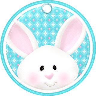 Frames, Toppers, Labels and Borders of the Easter Cuties Clip Art.