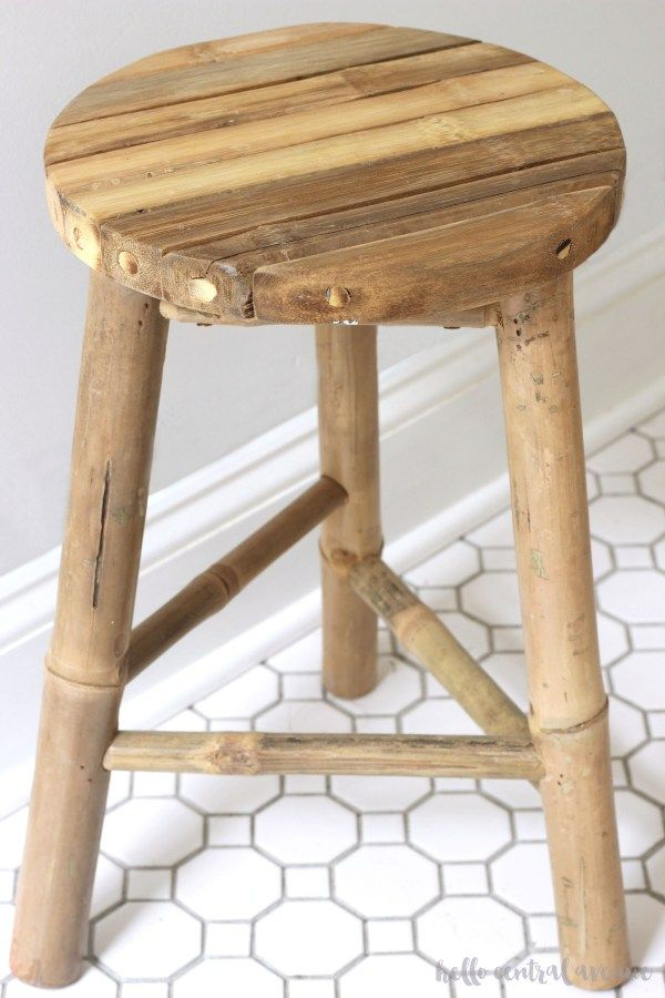 Serena Lily Knock Off Dip Dyed Wooden Stool Wooden Stools