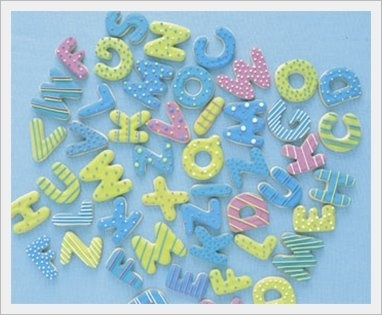 Alphabet cookies: Cookies Ideas, Sugar Cookies, Cookies Decor, Alphabet Cookies, Cookie Ideas, Cookies Galor, Cookies Inspiration