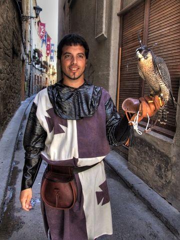 Juego interactivo : El Cuerpo Humano. Foto de : laplumilla.com (Halconero. Medievales de Olite, en Navarra).