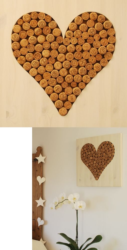 Cutest cork project - a heart of champagne (or any) corks!