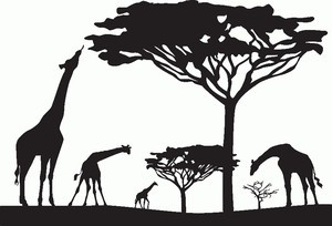 Details About Giraffe Silhouette Wall Sticker Vinyl Decal
