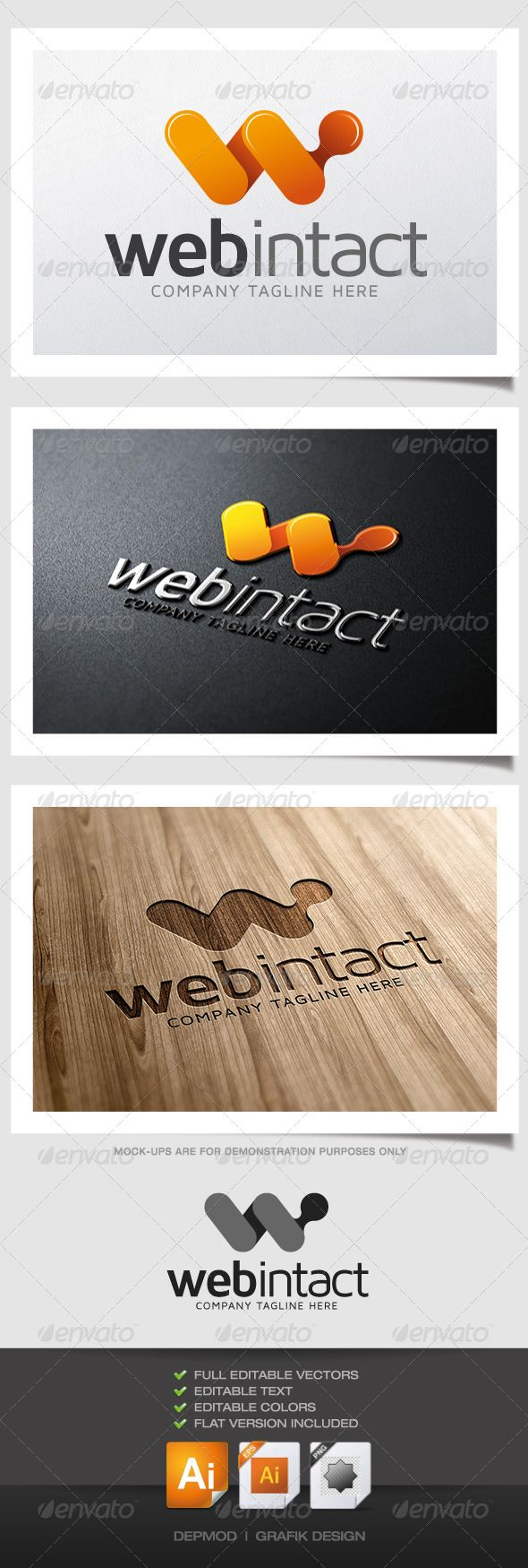 Web Intact Logo Letters Logo Templates