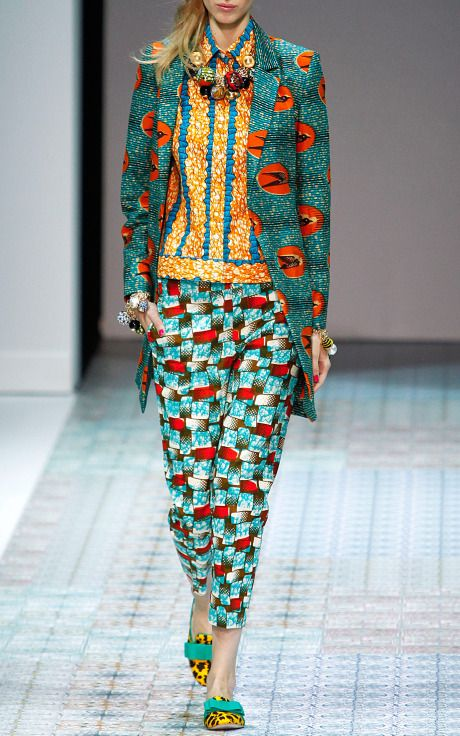 Stella Jean Spring/Summer 2014 Trunkshow Look 10 on Moda Operandi