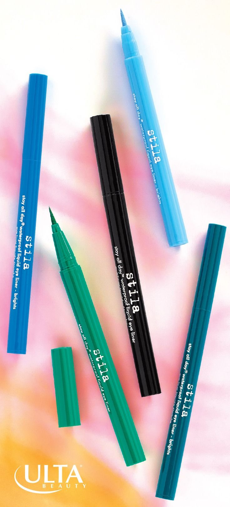 They're named Stay All Day for a reason. Stila waterproof, smudgeproof liquid liner in gorgeous colors with easy-to-use marker tips.
