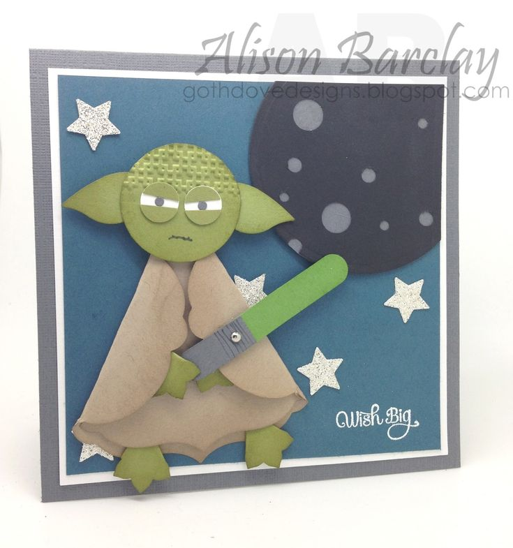 Gothdove Designs - Alison Barclay #stampinup #stampinupAustralia #Yoda #birthday #card #PunchArt #StarWars 100% CASE of Sarah-Jane Rae, a UK demonstrator. Link to her tutorial is in my blog post.