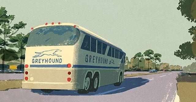 Illustration for Going Home by Pete Hamill. 幸福の黄色いハンカチの原作にあたるピートハミルの短編小説の挿絵#illustration #painting #tatsurokiuchi #art #drawing #life #lifestyle #happy #japan #people #木内達朗 #イラスト #イラストレーション