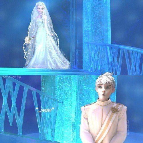 Wedding!!! Jack Frost and Elsa! Yaaaaaaaasssssssssssss I ship Jelsa so hard!!!!!