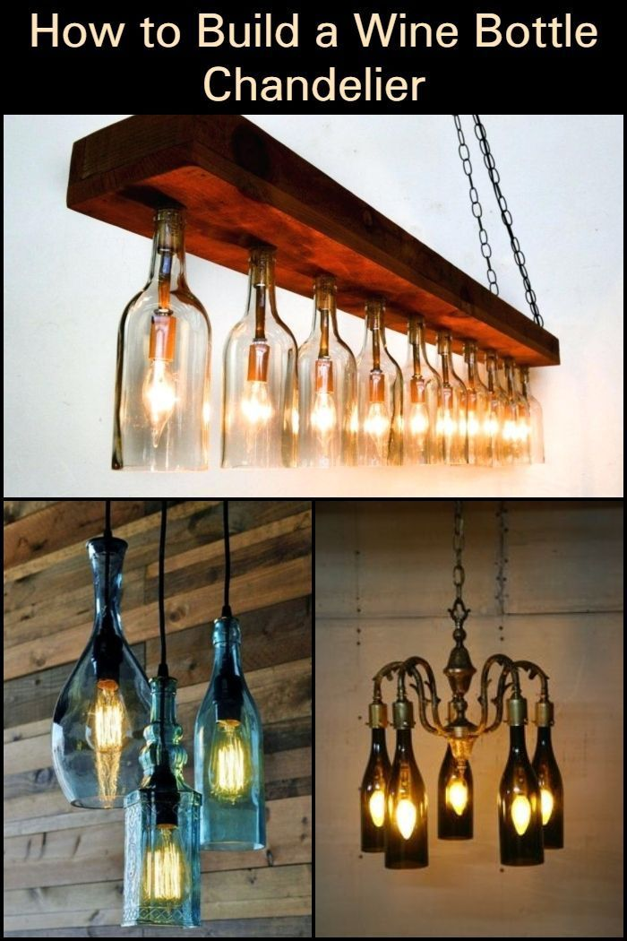 Create Your Own Masterpiece By Making A Chandelier Out Of Wine