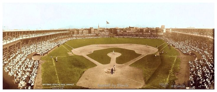 1908 New York Giants at Chicago Cubs Panoramic ⚾ 107 Yrs Ago Today - West Side Park, Chicago - August 30, 1908 ~ West Side Park was the home of the Chicago Cubs until they moved into Weeghman Park (later called Wrigley Field) in 1916. The Cubs would win that day by a score of 2-1 as they pulled within ½ game behind the 1st place Giants. Chicago would eventually take the NL Pennant as well as the 1908 World Series over Ty Cobb and the Detroit Tigers. (edit/color by BSmile)
