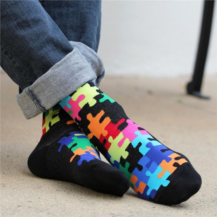 """Jig Saw Puzzle"" Socks by K. BELL Check out more #Art & #Designs at: http://www.vektfxdesigns.com"