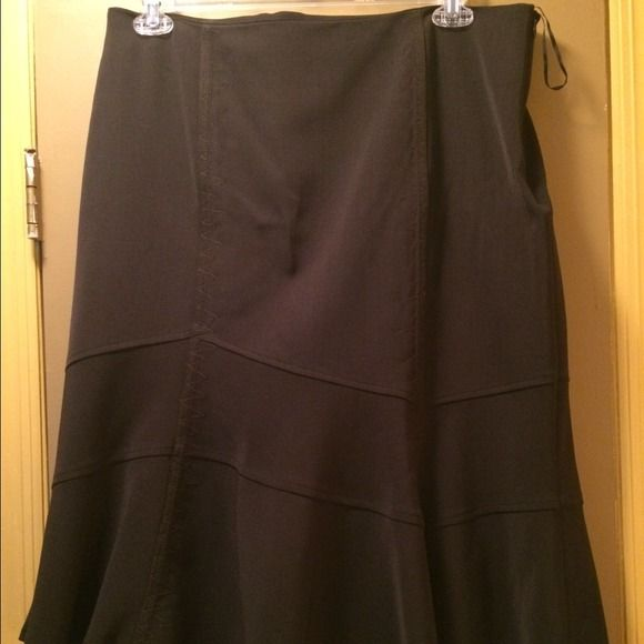 Gerard Darel tulip skirt Gerard Darel tulip skirt in chocolate brown. Fine zig zag detail stitching throughout. Falls just at the knee. Gerard Darel Skirts