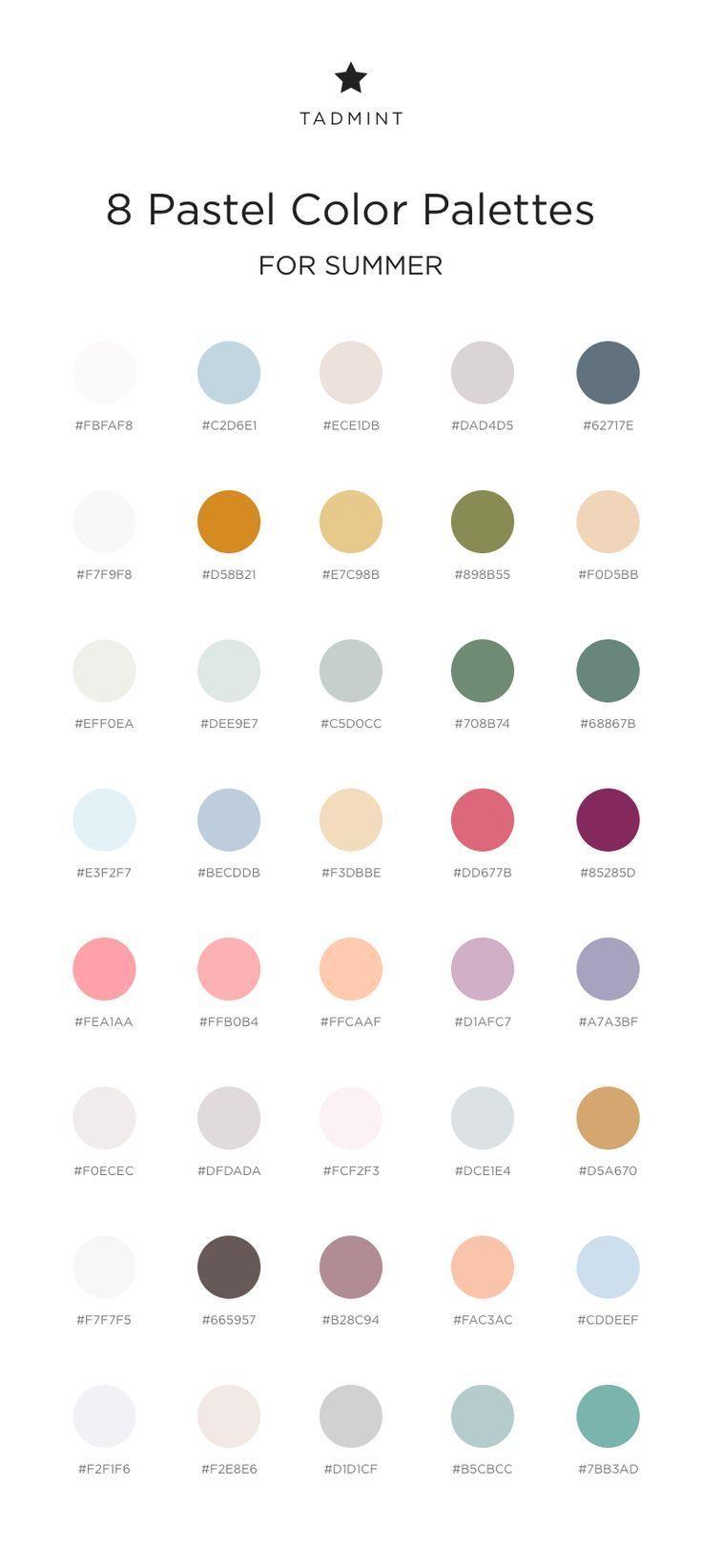 Aesthetic Color Codes : aesthetic, color, codes, Pastel, Color, Palettes, Summer, TADMINT, Colour, Palette,, Pantone, Palettes,, Aesthetic, Colors