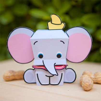 Everyone's favorite flying elephant can make a landing on your table with this adorable papercraft.