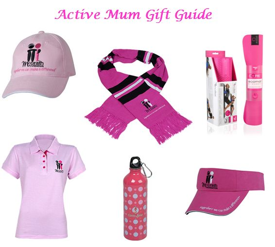 Need something sporty for mum this Mother's Day? McGrath has got you covered! The Active Mum Gift Set includes a Powertube Pro Pink Pilates Mat ($49.99) and Curve Lurve Drink Bottle ($9.95) for mum's workout! It also includes a McGrath pink cap ($9.95) and visor ($14.95), perfect to wear while playing sport or simply enjoying the outdoors! The McGrath pink polo ($34.95) and woolen scarf ($14.95) are perfect additions to add some fashion into mum's active life…