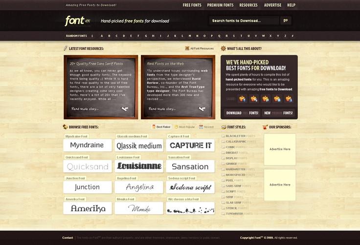 Fontex, fuentes gratuitas